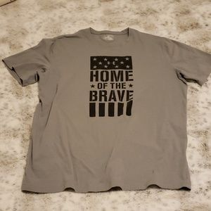 UA 2XL🇺🇲 Home of the Brave Tee